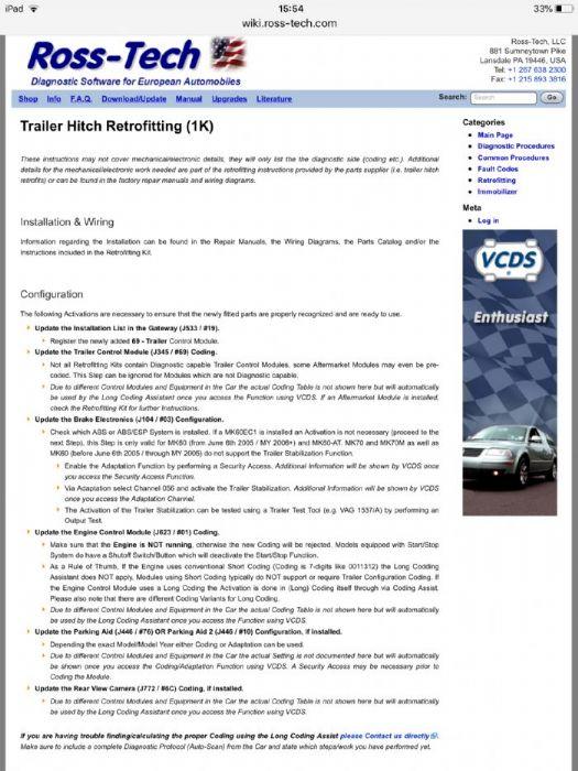 towbar coding - Skoda Yeti Forums